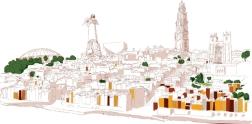 Porto: commissioned illustration for Cervejaria Galiza, Porto.
