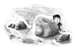 "Illustration for the Miguel Torga tale ""Alma grande"""